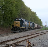 CSX GP38-2 2719 by LDLAWRENCE