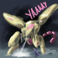 Flutter Gear Ray vs. Solid Sparkle by GiantMosquito