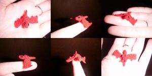 Micro crochet Dragon by Ambrosial-Wolf