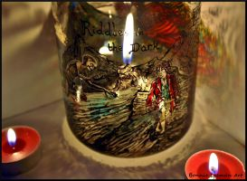 Riddles In The Dark Candle Jar by Bonniemarie
