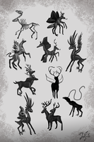 Creature Thumbnails by Zaefyra