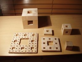 Multiples Wood Cube by pyrohmstr