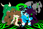 Commission: Core Chronicles Group Shot by MoeAlmighty