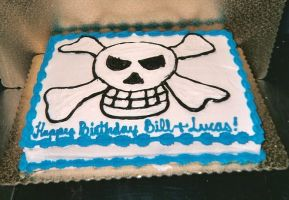 Skull and Crossbones Cake by zoro-swordsman