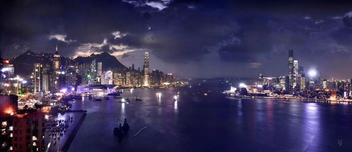 Hong Kong Victoria Harbor by romainjl