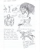 Lobo Sketch Page by Phycosmiley