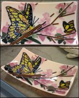 Glass Fusing: Swallowtail Butterfly by Mysticalpchan