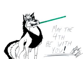 Kitara the wolfhound - May the 4th Be With You! by MortenEng21