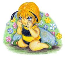 A little bee crying by jkBunny