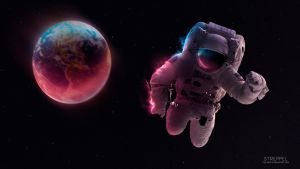 Alone in the space by Italimante