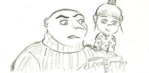 Despicable Me - Gru and Agnes by ImNotThere93