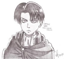 Levi Heichou at pencil by ValElfenMoon