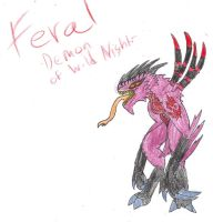 Feral the Demon of Wild Nights by CreatureLord