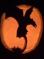Toothless Pumpkin by Dragon-Wolf-Lover
