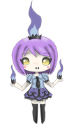 Chibi Gijinka - 609 Chandelure by Mizdreavus