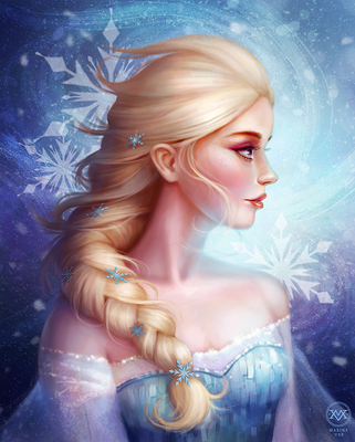 Queen Elsa by yaile