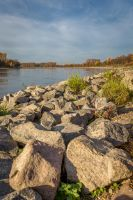low water by the river Rhine by bibamus-pd