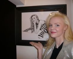 The Model and my Drawing by DiRi