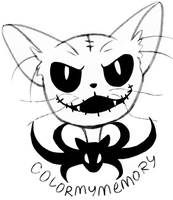 Cat Skellington (Mow) by ColorMyMemory