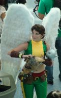 Unmasked Pretty Hawkgirl at Comikaze Expo 2012 by trivto