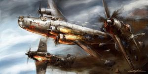 world war 2: B-24 Flak shak detail by VitoSs