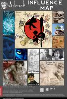Ahkward: Influence Map 2014 by Ahkward