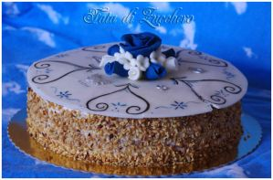 Blue and White cake by Dyda81