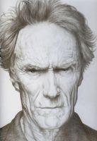 Clint Eastwood Pencil Portrait by JonMckenzie