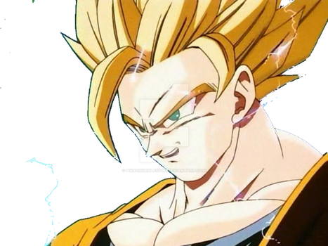 Ssj2 Goku render by pikachurulesyou