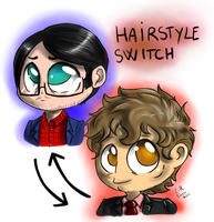 Chibi Hannibal - Hairstyle switch by FuriarossaAndMimma