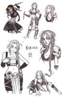 Sketch Page_ Kokora by BlackBirdInk