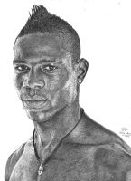 Mario Balotelli pencil drawing by Hannaasfour
