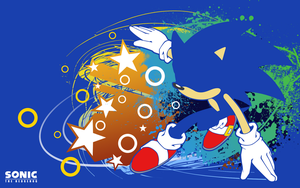 Sonic Silhouette -Wallpaper- by Fuzon-S
