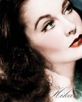 Vivien Leigh coloured photo for VictorianRedRose by natsafan