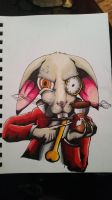 Alice, You're Late- White Rabbit-Copic Markers by MintBlueRockets