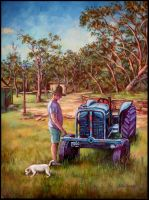 Peter and his tractor by xxaihxx