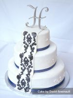 Damask Wedding Cake by DavidArsenault
