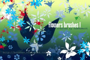 Flowers Brushes by hawksmont