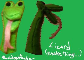 Lizard Fingerpuppet by RandomPanic
