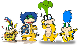4 little koopalings C: by Nintendrawer