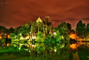 Johanneskirche HDR at Night by Creative--Dragon