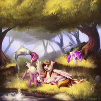 Commission: Picnic by Eosphorite