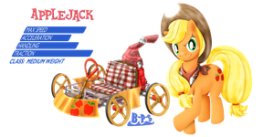 PonyKart - Applejack by Blue-Paint-Sea