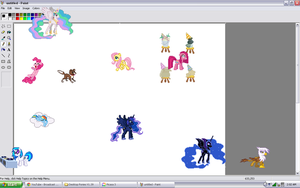 Darn these ponies they invade my paint by Coffee-foam-swirl