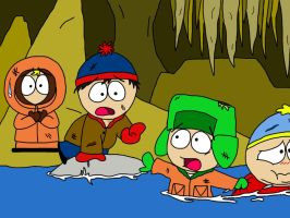 South Park- Escape from Cave of the Winds by cartoonie1987