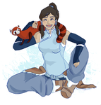 Korra and Pabu by revois