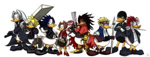 Final Fantasy VII Ducks by Dragona15
