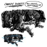 Creepy Forest002 by BDTXIII