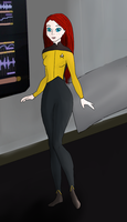 Disney Style Star Trek Tactical Officer by Padme4000