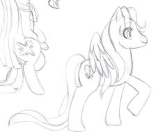 MLP - Wildheart's Confidence Sketch by Wildnature03